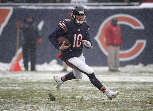 It's his team now: the Bears have made it clear that the franchise is in Mitchell Trubisky's hands. (AP)