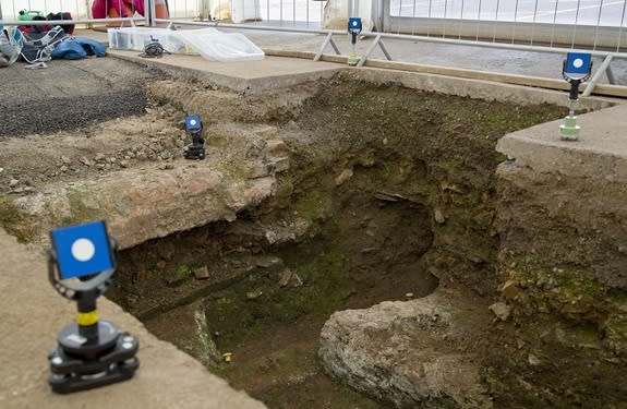 This photo shows the final resting place of King Richard III, found beneath a parking lot in England last year.