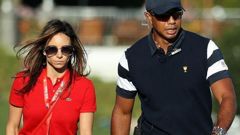 Erica Herman and Tiger Woods in 2017. (Photo by Rob Carr/Getty Images)