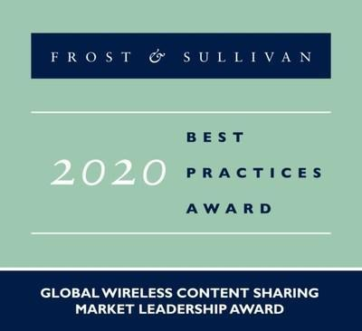 2020 Global Wireless Content Sharing Market Leadership Award