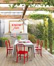 """<p>This year, make use of your grill or <a href=""""https://www.countryliving.com/gardening/garden-ideas/g1435/outdoor-kitchens/"""" rel=""""nofollow noopener"""" target=""""_blank"""" data-ylk=""""slk:outdoor kitchen"""" class=""""link rapid-noclick-resp"""">outdoor kitchen</a> and plan a holiday meal while enjoying your most clever <a href=""""https://www.countryliving.com/gardening/garden-ideas/g1336/porch-and-patio-decorating-ideas/"""" rel=""""nofollow noopener"""" target=""""_blank"""" data-ylk=""""slk:back patio decorating ideas"""" class=""""link rapid-noclick-resp"""">back patio decorating ideas</a>. </p><p><a class=""""link rapid-noclick-resp"""" href=""""https://www.amazon.com/Amscan-570025-Patriotic-Fabric-Runner/dp/B01N9VC07P/ref=sr_1_2?tag=syn-yahoo-20&ascsubtag=%5Bartid%7C10050.g.4463%5Bsrc%7Cyahoo-us"""" rel=""""nofollow noopener"""" target=""""_blank"""" data-ylk=""""slk:SHOP 4TH OF JULY TABLE RUNNERS"""">SHOP 4TH OF JULY TABLE RUNNERS</a></p>"""
