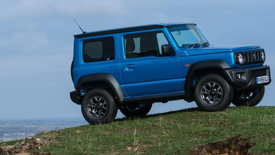 In the flesh, the Jimny is tiny and, in fact, makes the Baleno look big. Yet, it packs in enough to make it stand out from the crowd. It is boxy and looks delightfully different, plus the big wheel arches housing the 15-inch wheels gives it a mean stance.