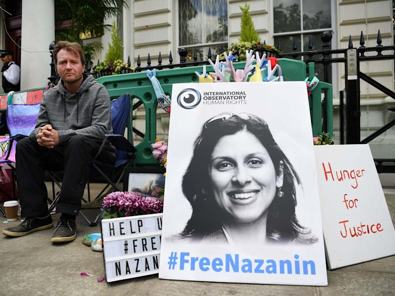 Richard Ratcliffe, the husband of imprisoned Nazanin Zaghari-Ratcliffe, said his wife had been chained to a bed in solitary confinement: EPA