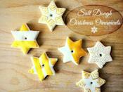 """<p>You won't believe that a simple pantry staple can yield moldable clay that's perfect for crafting DIY ornaments. You can even make little circles ripe for stamping a baby hand or footprints. </p><p><em>Get the tutorial at <a href=""""https://life-athon.com/2016/12/salt-dough-christmas-ornaments/"""" rel=""""nofollow noopener"""" target=""""_blank"""" data-ylk=""""slk:Life-AThon"""" class=""""link rapid-noclick-resp"""">Life-AThon</a>.</em></p>"""