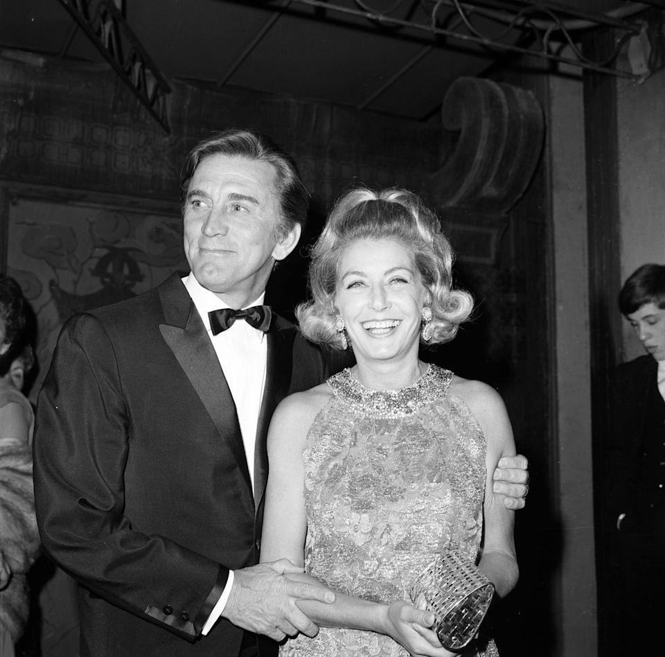 <p>Douglas and Buydens at a another Los Angeles party. </p>