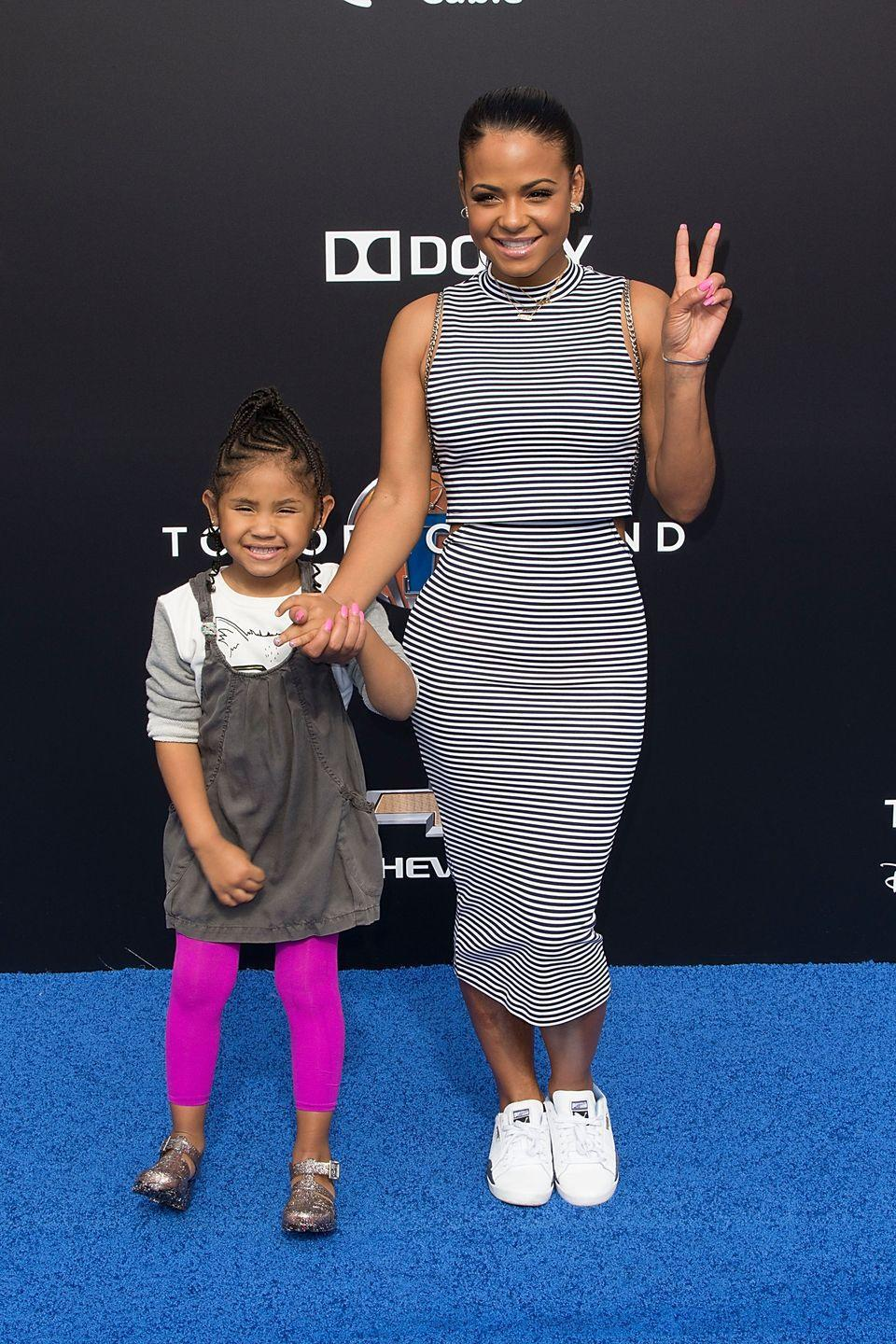 """<p>""""I want to show the example that you can be <a href=""""https://hellobeautiful.com/2766263/christina-milian-being-a-single-mother-can-be-tough-exclusive/"""" rel=""""nofollow noopener"""" target=""""_blank"""" data-ylk=""""slk:a single mother"""" class=""""link rapid-noclick-resp"""">a single mother</a> and work and handle a lot of other things at the same time."""" </p>"""