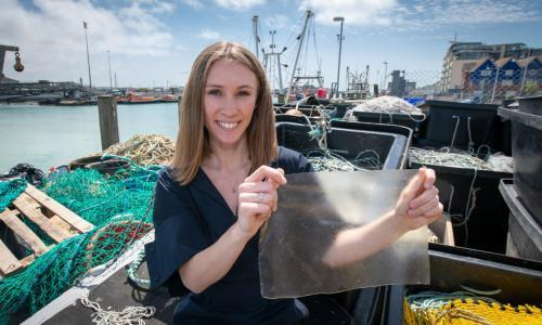 Plastic substitute made of fish waste hauls in UK designer Dyson award