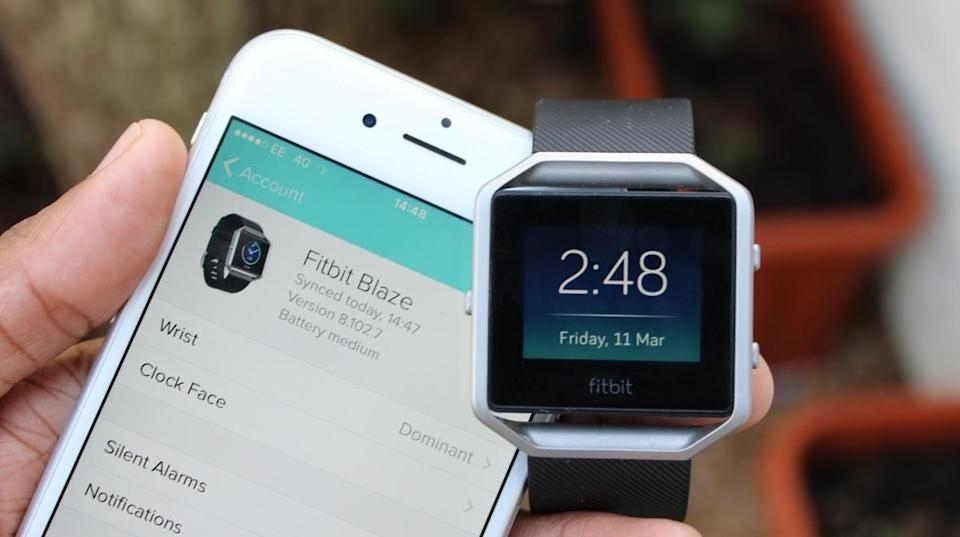 The Fitbit Blaze app measures everything you do