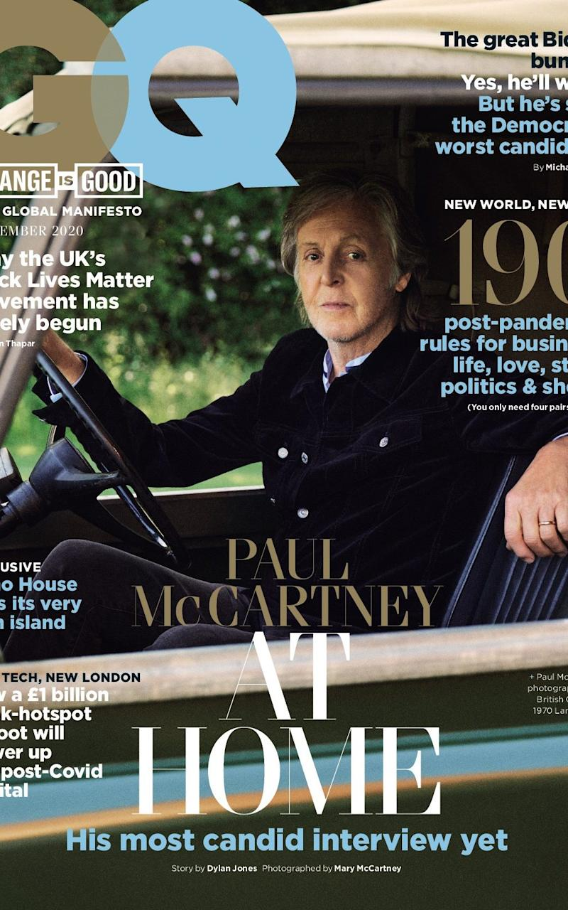 Sir Paul McCartney is in the September issue of GQ - Mary McCartney