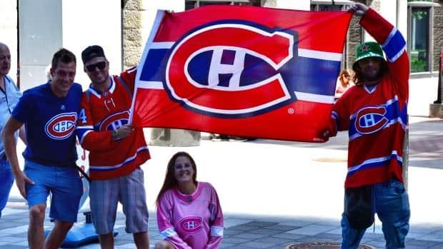 Fans in Montreal are getting ready for Game 6 of the Habs, Las Vegas semifinal. (Jean-Claude Taliana/CBC - image credit)
