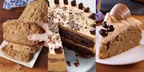 """<p><a href=""""https://www.delish.com/uk/food-news/g30146904/gift-guide-coffee-lover/"""" rel=""""nofollow noopener"""" target=""""_blank"""" data-ylk=""""slk:Coffee"""" class=""""link rapid-noclick-resp"""">Coffee</a> and cake are a winning combination when it comes to dessert recipes. And they can be customised in lots of ways, take our <a href=""""https://www.delish.com/uk/cooking/recipes/a29806803/coffee-and-walnut-cake/"""" rel=""""nofollow noopener"""" target=""""_blank"""" data-ylk=""""slk:Coffee & Walnut Whip Cake"""" class=""""link rapid-noclick-resp"""">Coffee & Walnut Whip Cake</a>, <a href=""""https://www.delish.com/uk/cooking/recipes/a32049083/carrot-cake-coffee-cake-recipe/"""" rel=""""nofollow noopener"""" target=""""_blank"""" data-ylk=""""slk:Carrot Cake Coffee Cake"""" class=""""link rapid-noclick-resp"""">Carrot Cake Coffee Cake</a> or <a href=""""https://www.delish.com/uk/cooking/recipes/a29571751/espresso-martini-cake/"""" rel=""""nofollow noopener"""" target=""""_blank"""" data-ylk=""""slk:Espresso Martini Cake"""" class=""""link rapid-noclick-resp"""">Espresso Martini Cake</a> as examples. They're like your <a href=""""https://www.delish.com/uk/cooking/recipes/a29139335/easy-coffee-cake-recipe/"""" rel=""""nofollow noopener"""" target=""""_blank"""" data-ylk=""""slk:standard coffee cake"""" class=""""link rapid-noclick-resp"""">standard coffee cake</a>, just elevated! So, if you're planning an afternoon tea at home or just fancy a little pick-me-up session of <a href=""""https://www.delish.com/uk/easy-baking-recipes/"""" rel=""""nofollow noopener"""" target=""""_blank"""" data-ylk=""""slk:baking"""" class=""""link rapid-noclick-resp"""">baking</a>, then make sure you take a look at some of our favourite coffee <a href=""""https://www.delish.com/uk/cooking/recipes/g36037842/easy-cake-recipes/"""" rel=""""nofollow noopener"""" target=""""_blank"""" data-ylk=""""slk:cake recipes"""" class=""""link rapid-noclick-resp"""">cake recipes</a>. We're convinced you'll love 'em! (Especially the <a href=""""https://www.delish.com/uk/cooking/recipes/a29571751/espresso-martini-cake/"""" rel=""""nofollow noopener"""" target=""""_blank"""" data-ylk=""""slk:Espresso Martini"""" class=""""link """