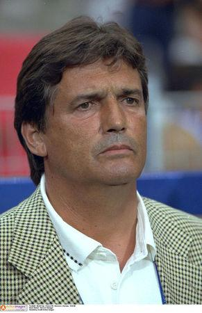 FILE PHOTO: Football - 1998 FIFA World Cup - Group A - Morocco v Norway - Stade de la Mosson, Montpellier - 10/6/98 - Henri Michel - Morroco Manager. Mandatory Credit: Action Images/File Photo