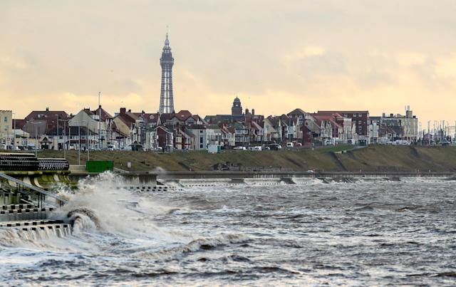The seafront in Blackpool (PA)