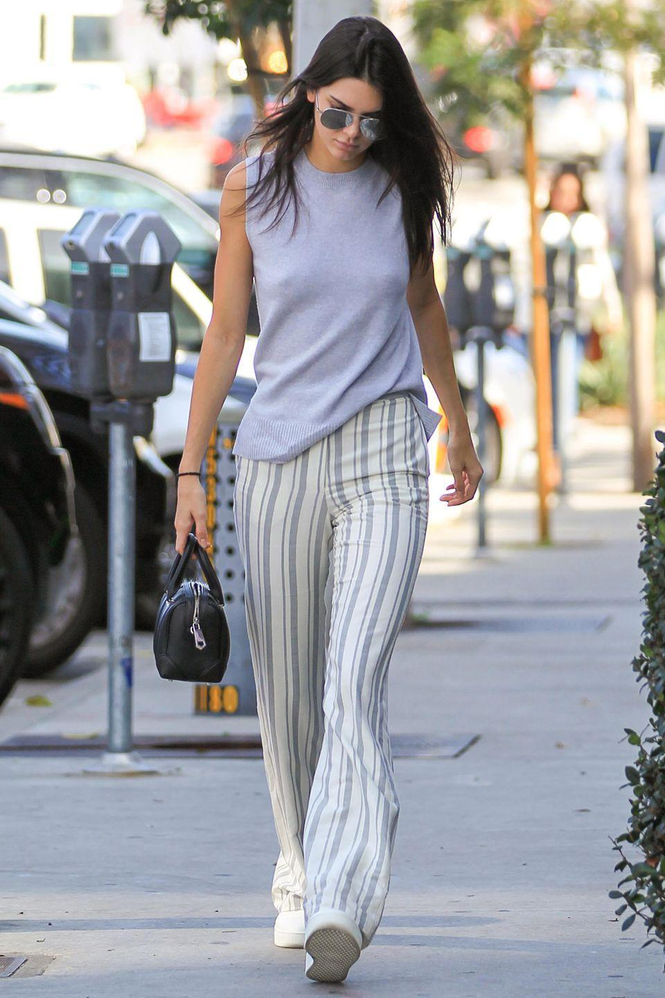 <p>Although Kendall Jenner might have supermodel legs, you don't have to be vertically gifted to wear flares. Team them with trainers or sandals and sport them until summer arrives.</p>