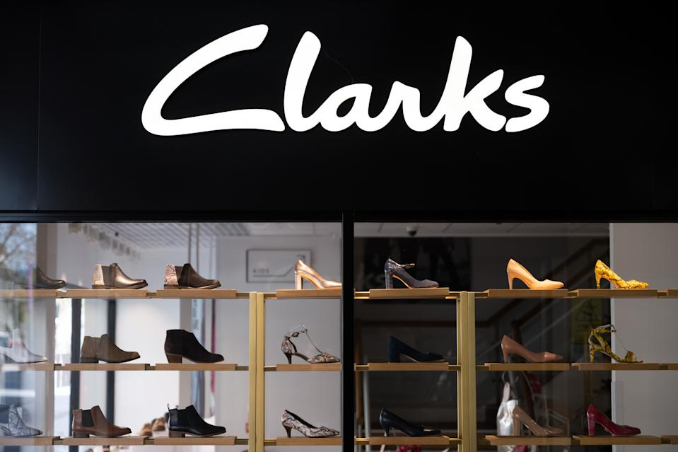 CARDIFF, UNITED KINGDOM - APRIL 06: A general view of the outside of a Clarks shoe store on April 06, 2020 in Cardiff, United Kingdom. The family-owned footwear retailer Clarks has drawn up plans for the permanent closure of some of its stores. There have been around 50,000 reported cases of the COVID-19 coronavirus in the United Kingdom and 5,000 deaths. The country is in its third week of lockdown measures aimed at slowing the spread of the virus. (Photo by Matthew Horwood/Getty Images)