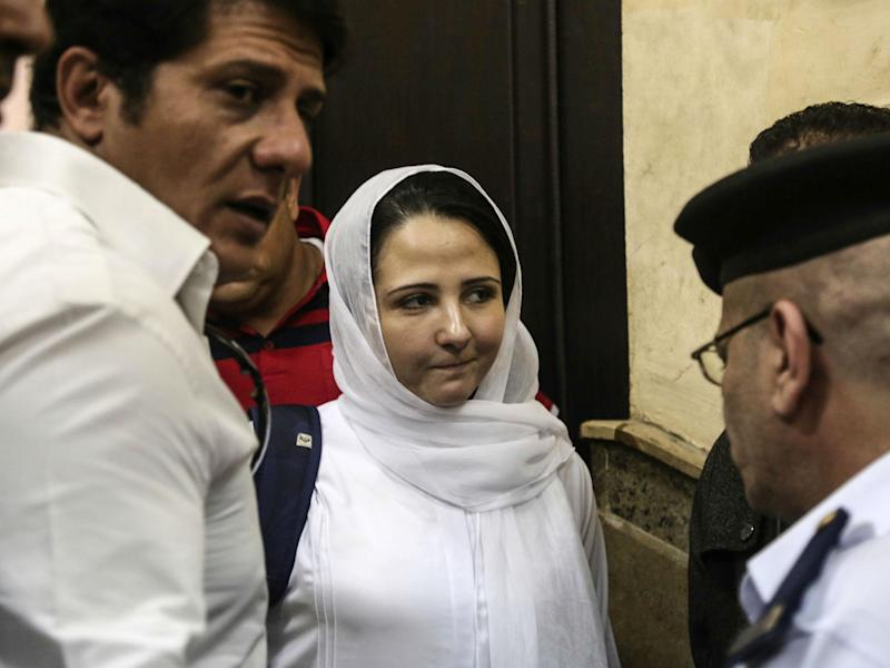 Ms Hijazi and seven others had all charges against them dropped after three years in prison: AP