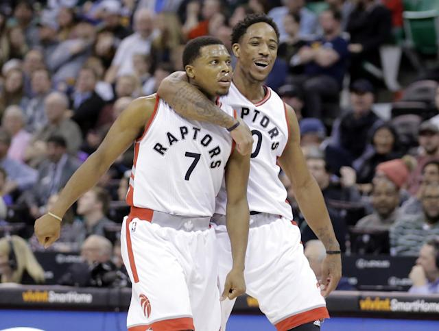 Kyle Lowry and DeMar DeRozan have helped Toronto to back-to-back 50-win seasons. (AP)