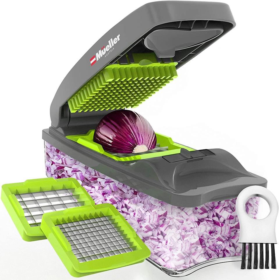 "<br><br><strong>Mueller Austria</strong> Pro Vegetable Chopper, $, available at <a href=""https://amzn.to/3idaXdz"" rel=""nofollow noopener"" target=""_blank"" data-ylk=""slk:Amazon"" class=""link rapid-noclick-resp"">Amazon</a>"