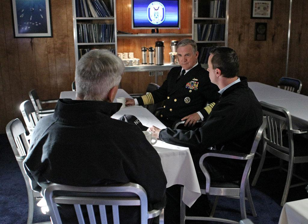 """Squall"" -- A massive storm brings the NCIS team aboard the USS Borealis, where everyone becomes a suspect once the crime scene proves that Mother Nature wasn't the only culprit. Tension builds when McGee discovers that his estranged father, Navy Admiral John McGee, was on board during the incident."