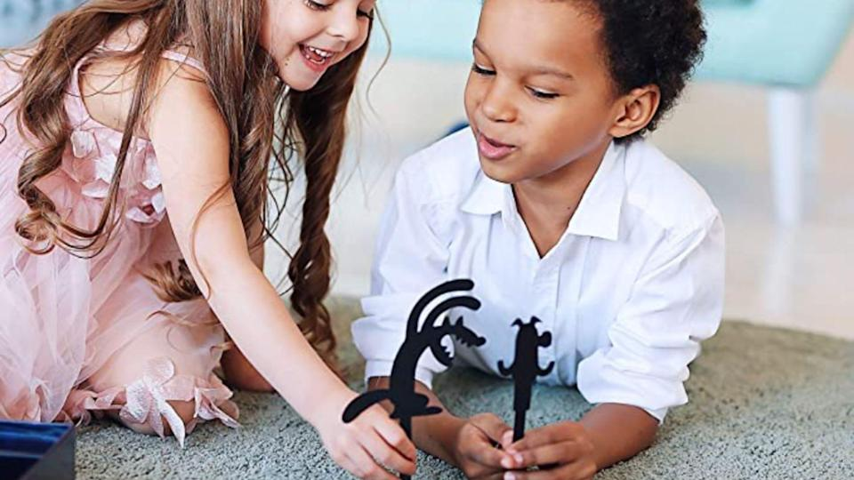 This shadow puppet toy really encourages narrative play.