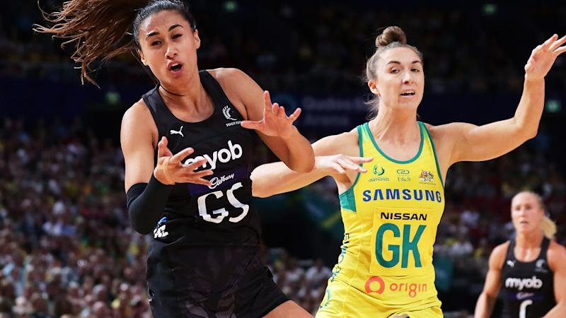Maria Folau and Sarah Klau, pictured here in action during the Constellation Cup.