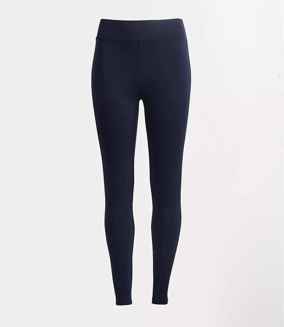 <p>These <span>LOFT Seamed Ponte Leggings</span> ($30, originally $50) will look good with a loose tee and a pair of sneakers.</p>