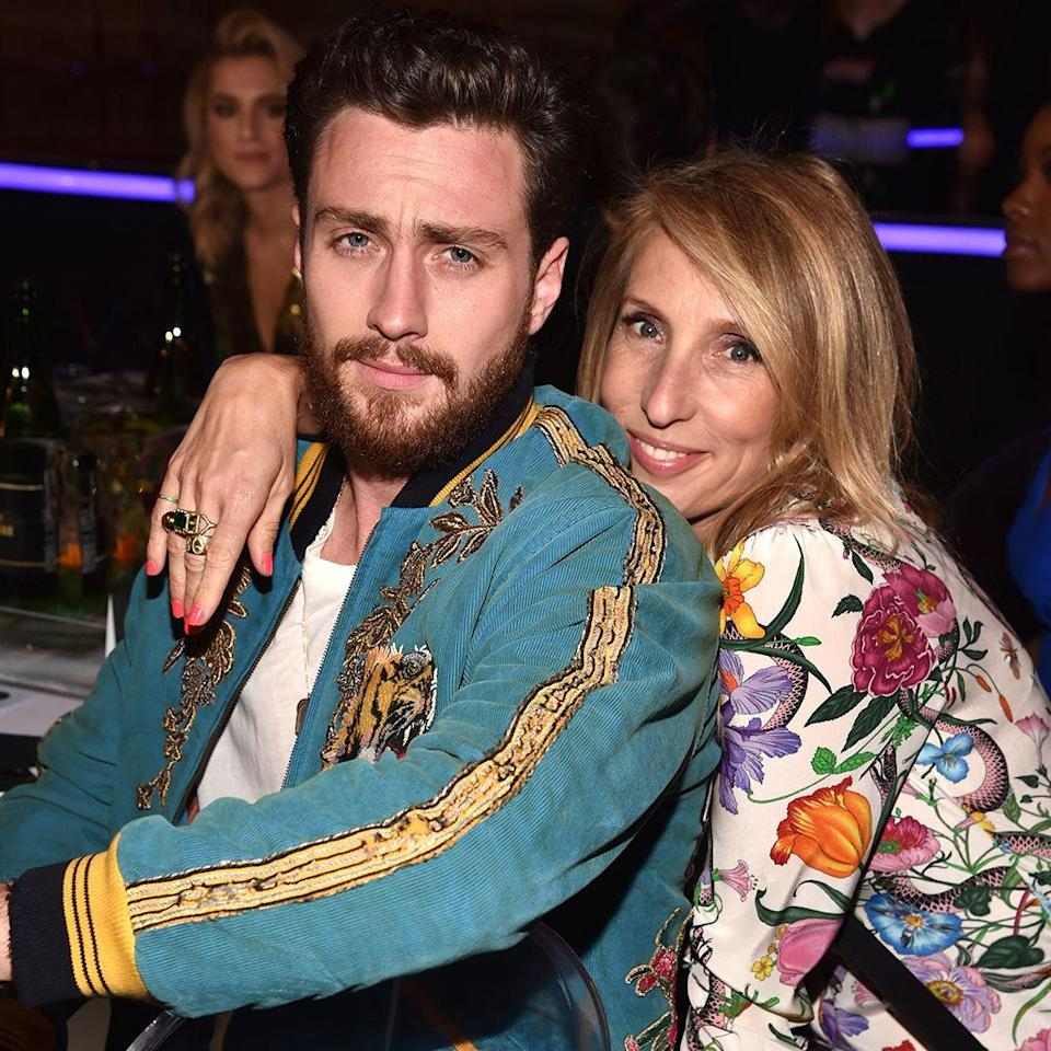 """<p><strong>Age gap:</strong> 19 years</p><p>In 2009, Aaron Taylor-Johnson first met his now-wife (who's 19 years his senior), Sam Taylor-Johnson, on the set of Nowhere Boy, where she was his director. The two announced their engagement that same year, reports <a href=""""http://www.dailymail.co.uk/tvshowbiz/article-2602579/Aaron-Taylor-Johnson-shrugs-23-year-age-gap-wife-Sam.html"""" rel=""""nofollow noopener"""" target=""""_blank"""" data-ylk=""""slk:Daily Mail"""" class=""""link rapid-noclick-resp"""">Daily Mail</a>. </p><p>Regarding the age gap, in 2014, Aaron told Men's Health: """"She's such a young, beautiful soul that you wouldn't even know.""""</p>"""