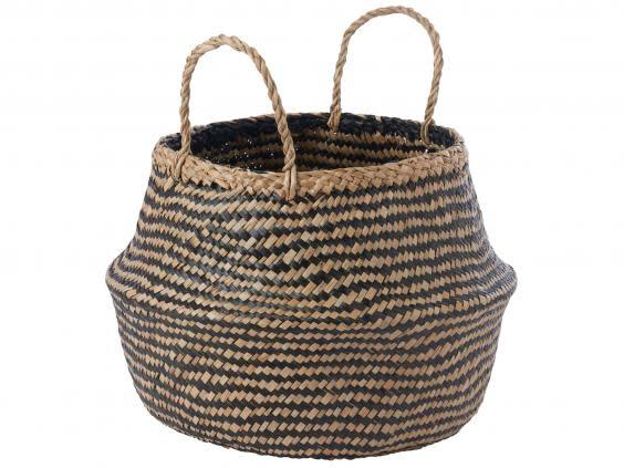 A braided basket means you can keep your space tidy while making the most of any floor space (Ikea)