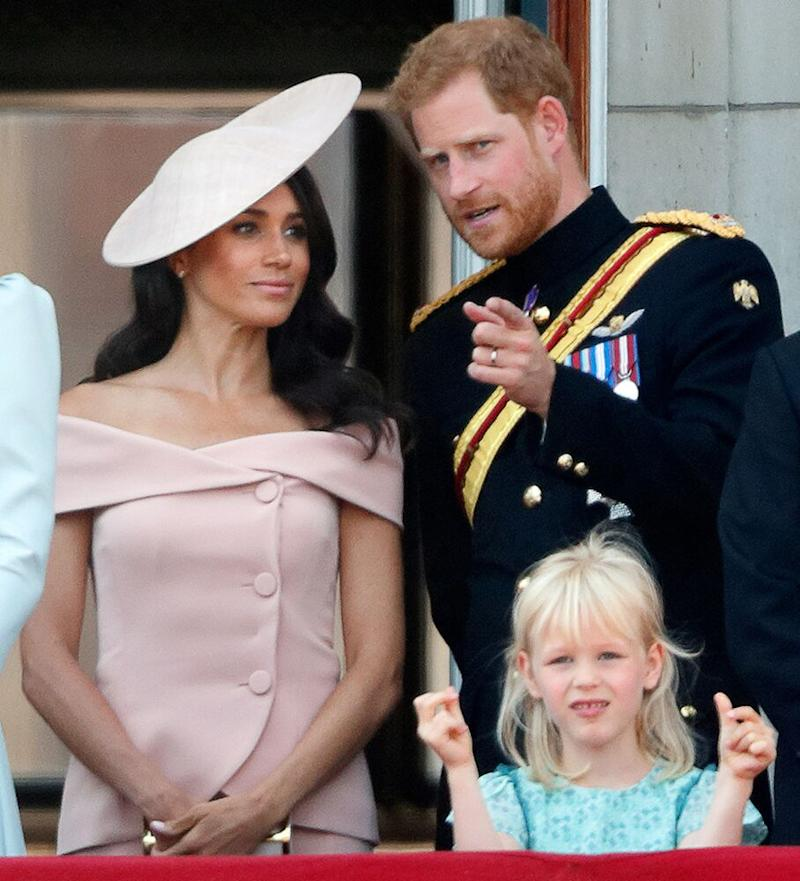 Meghan and Harry during Trooping The Colour 2018 on June 9, 2018, in London, England. | Max Mumby/Indigo/Getty
