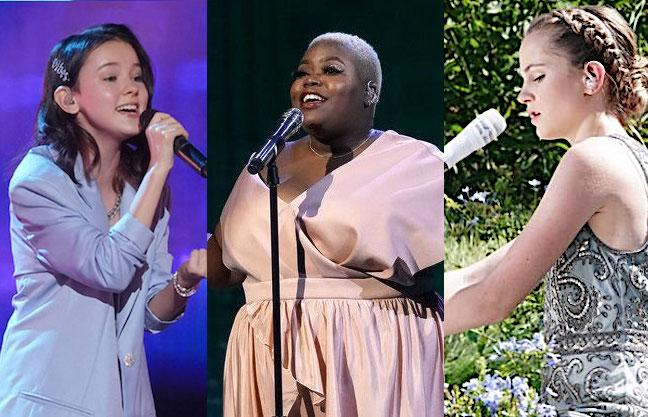 Singers Daneliya Tuleshova, Cristina Rae, and Kenadi Dodds edge out variety acts for the 'America's Got Talent' Season 15 finals. (Photo: NBC)