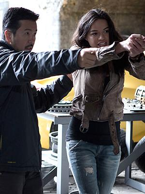 Justin Lin and Michelle Rodriguez