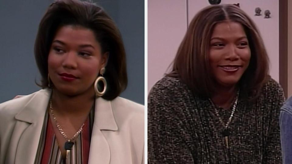 """Queen Latifah in the first vs. last episode of """"Living Single"""""""