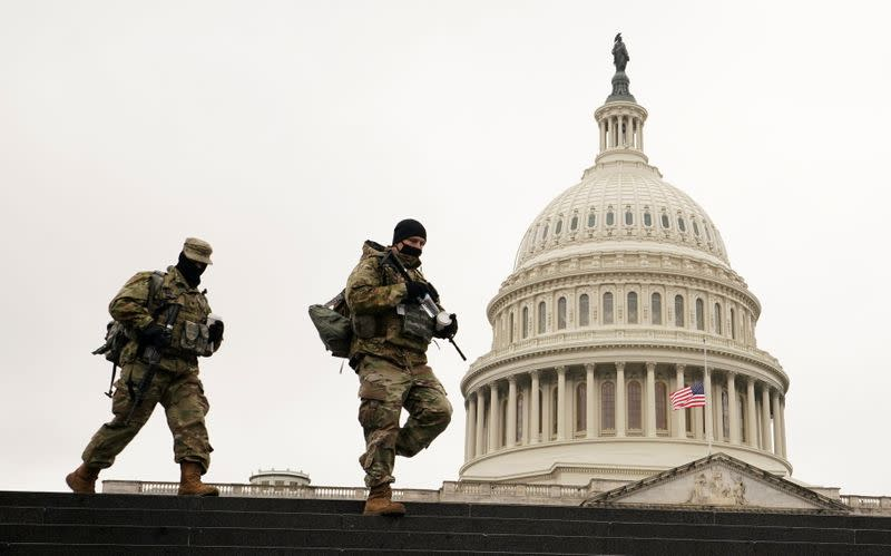 National Guardsmen at the U.S. Capitol in Washington