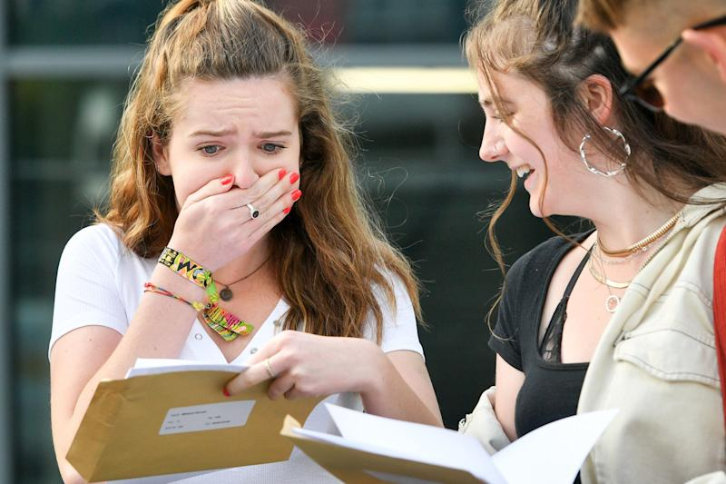 Students are finding out their A Level results today (PA)