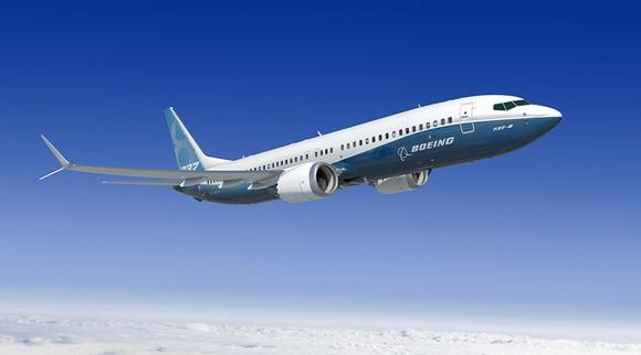 A rendering of a Boeing 737 MAX 8.
