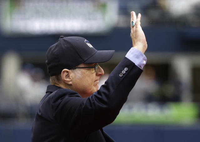 When the Seattle Seahawks are sold, the proceeds will go to the foundation of late owner Paul G. Allen, shown here in 2017. (AP)