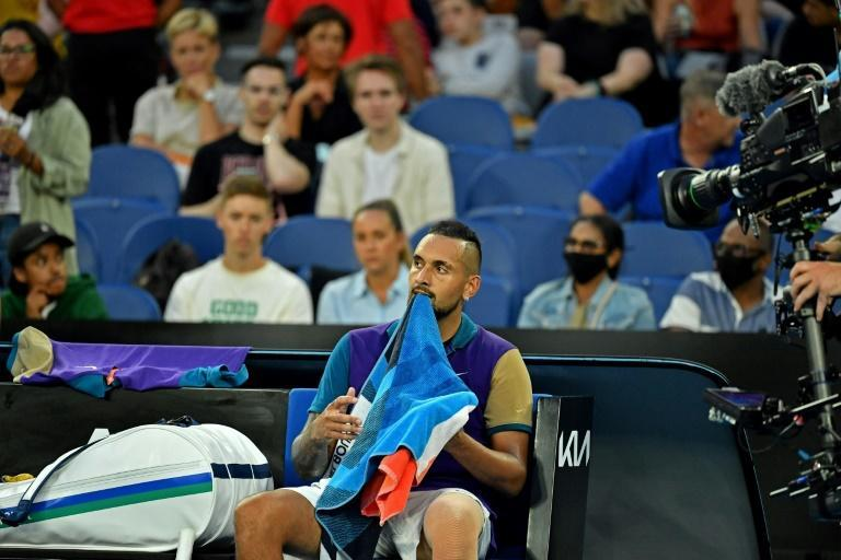Australia's Nick Kyrgios drew strong home support