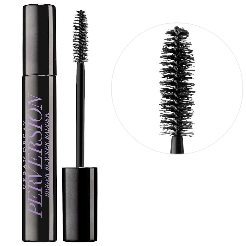 """<p><strong>Item: </strong><span> Urban Decay Perversion Mascara</span> ($13-$25)</p> <p><strong>What our editor said:</strong> """"I love how black [this mascara's] pigment is. It makes my lashes look miles long and adds just the right amount of volume without being clumpy. When I want extra oomph, I layer it over Urban Decay Subversion Lash Primer, which gives the formula even more power."""" - Sarah Siegel, contributing writer, Beauty</p> <p>If you want to read more, here is <a href=""""https://www.popsugar.com/beauty/Best-Mascaras-According-Editors-45079012"""" class=""""link rapid-noclick-resp"""" rel=""""nofollow noopener"""" target=""""_blank"""" data-ylk=""""slk:the complete review"""">the complete review</a>.</p>"""