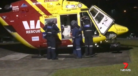 The former digger was rushed to the Port Macquarie Base Hospital and put in an induced coma, believed to have suffered a broken sternum and severe wounds to his neck, head and face. Source: 7 News