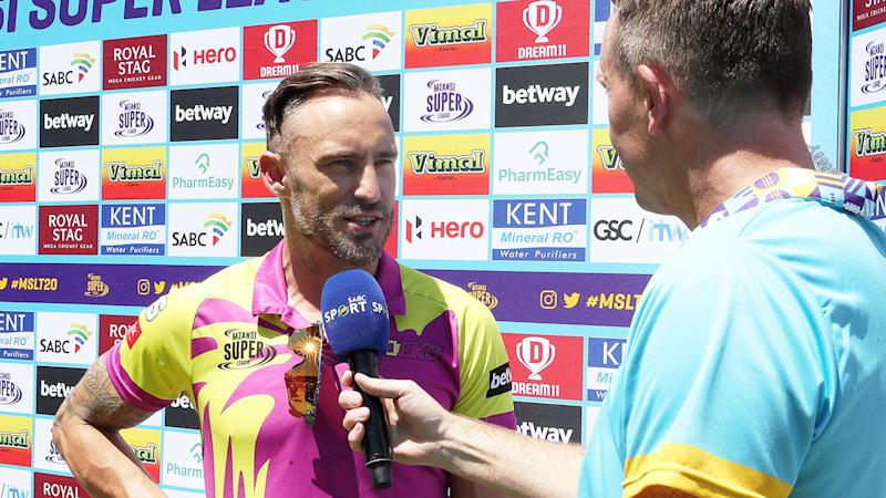 Faf du Plessis delivered an unforgettable line during a pre-game interview.