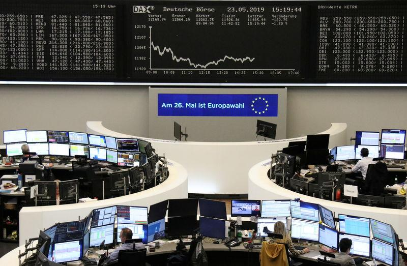 The German share price index DAX graph is pictured at the stock exchange in Frankfurt, Germany, May 23, 2019. REUTERS/Staff