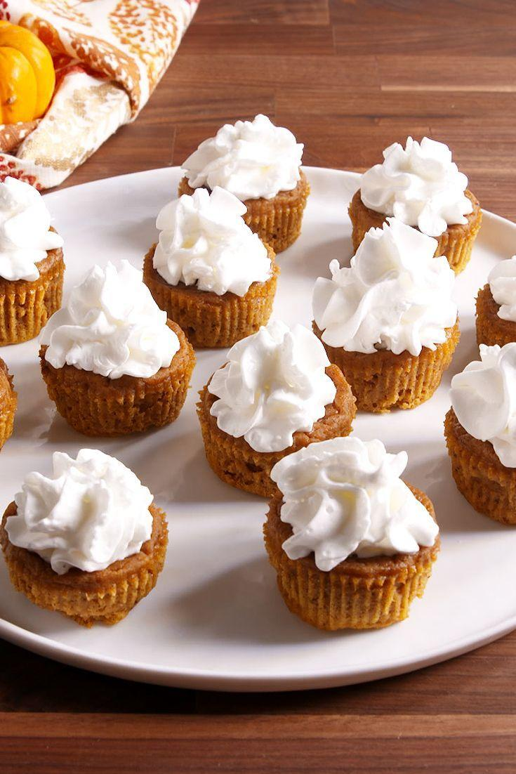 """<p>Prep yourself for Thanksgiving pie with these Halloween-approved cupcakes.</p><p>Get the recipe from <a href=""""https://www.delish.com/cooking/recipe-ideas/recipes/a50163/pumpkin-pie-cupcakes-recipe/"""" rel=""""nofollow noopener"""" target=""""_blank"""" data-ylk=""""slk:Delish"""" class=""""link rapid-noclick-resp"""">Delish</a>. </p>"""