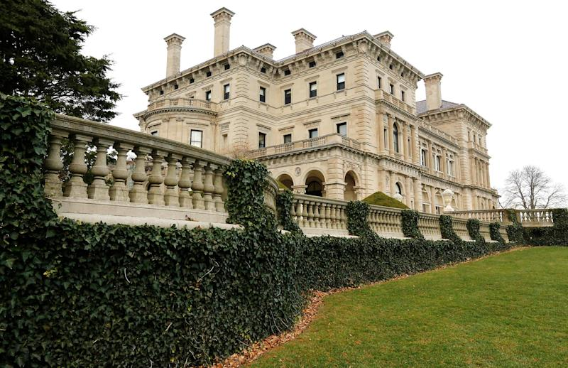 Ivy is attached to a railing at The Breakers mansion in Newport, R.I., in 2014.