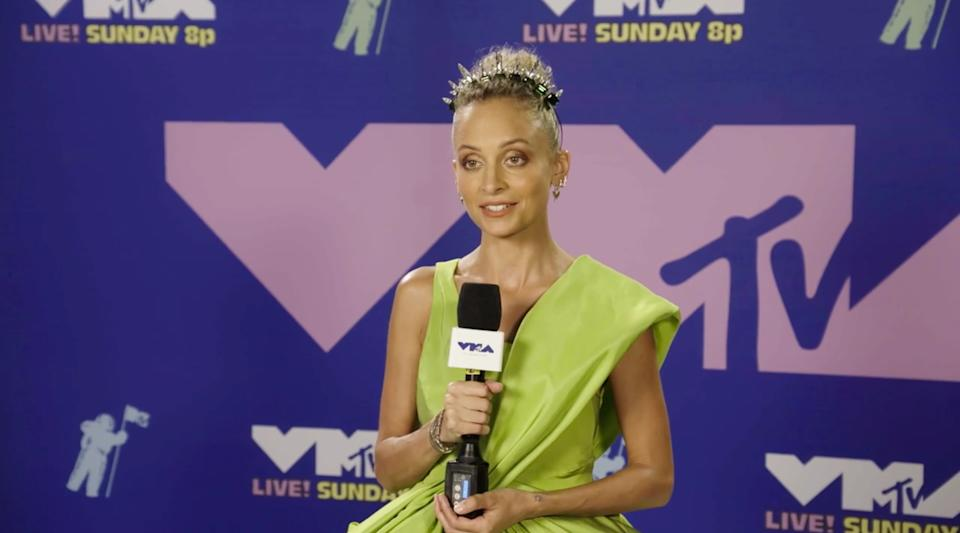 Nicole Richie during an interview for the 2020 MTV Video Music Awards in a screen shot from video released to the media on August 31, 2020. (Photo Courtesy of MTV via Sipa USA) **MANDATORY CREDIT***EDITORIAL USE ONLY**