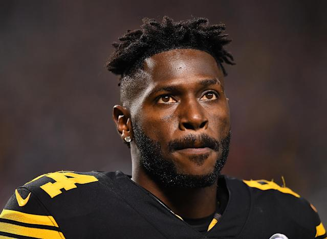 Drama, drama, drama: The Pittsburgh Steelers and receiver Antonio Brown have no shortage of it. (Getty Images)