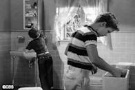 """<p>This TV classic actually aired before <em>The</em> <em>Brady Bunch</em>, but when a toilet was deemed crucial to one episode's plot line, <a href=""""http://www.goodhousekeeping.com/home/decorating-ideas/a32763/brady-bunch-bathroom/"""" rel=""""nofollow noopener"""" target=""""_blank"""" data-ylk=""""slk:it got screen time"""" class=""""link rapid-noclick-resp"""">it got screen time</a>. Only a quick peek at the tank was shown — definitely <em>not</em> the bowl. </p>"""