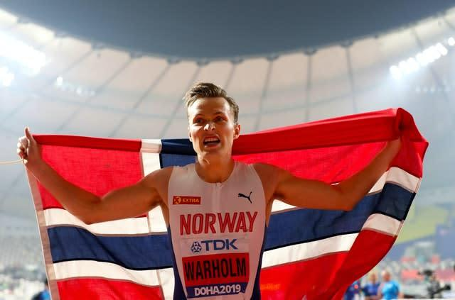 Norway's Karsten Warholm will compete in the Impossible Games (Martin Rickett/PA)