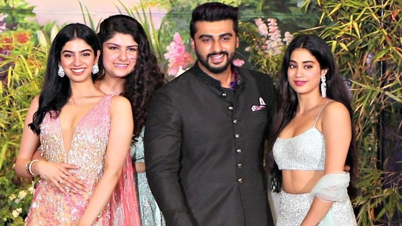 Arjun with sisters Anshula, Janhvi and Khushi