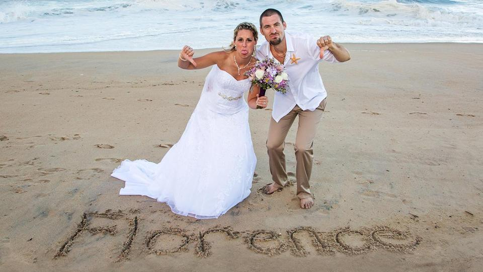 How This Couple Got Their Dream Beach Wedding Just Before Hurricane Florence Hit the Area