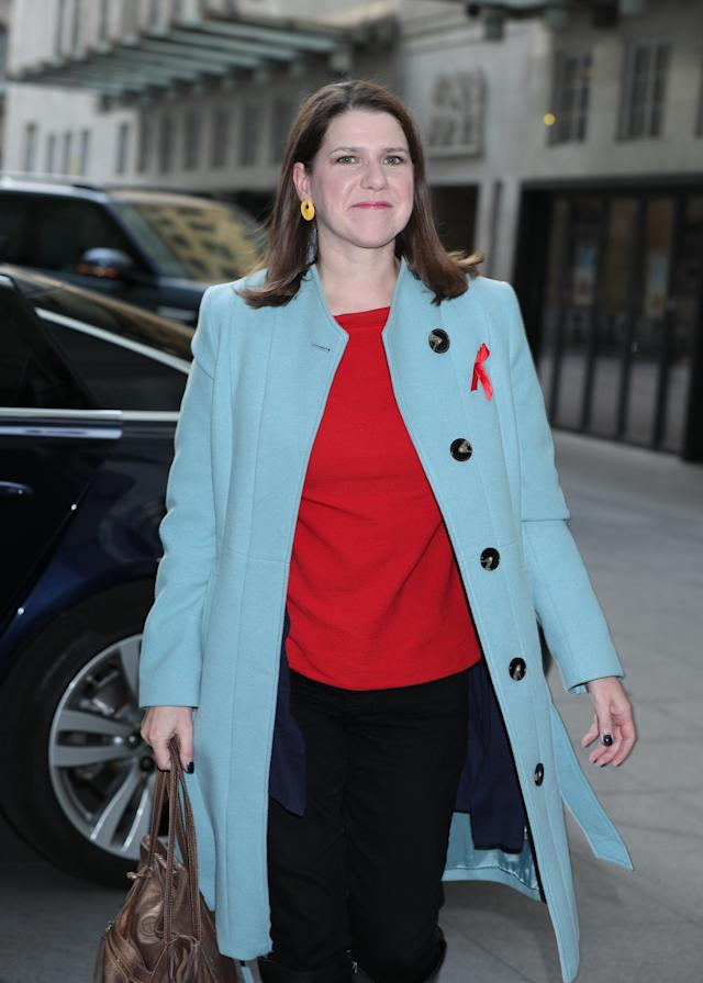Liberal Democrat leader Jo Swinson arrives at Broadcasting House, London.